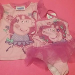 Peppa Pig, two piece swim set, 2T